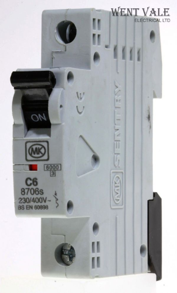 MK Sentry - 8706s - 6a Type C Single Pole MCB New